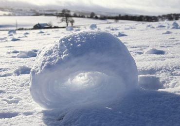 Se formaron hermosos anillos de nieve en Escocia
