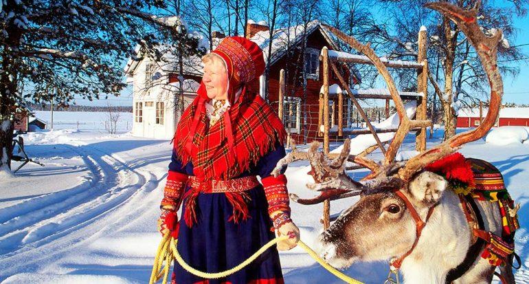 Tras las huellas de los samis en Laponia