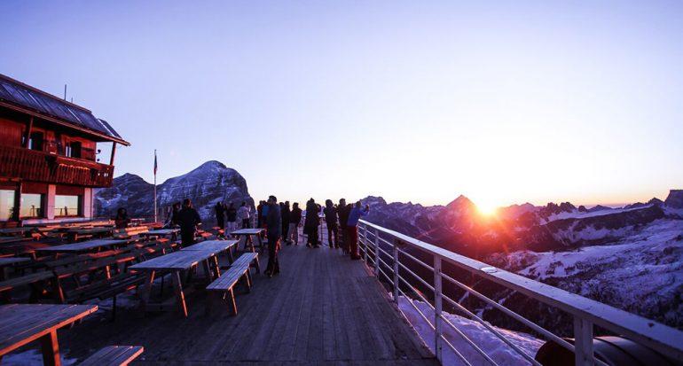 Un encuentro de chefs en Las Dolomitas en Italia