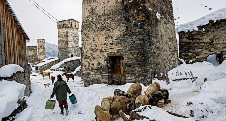 Un refugio medieval en las montañas