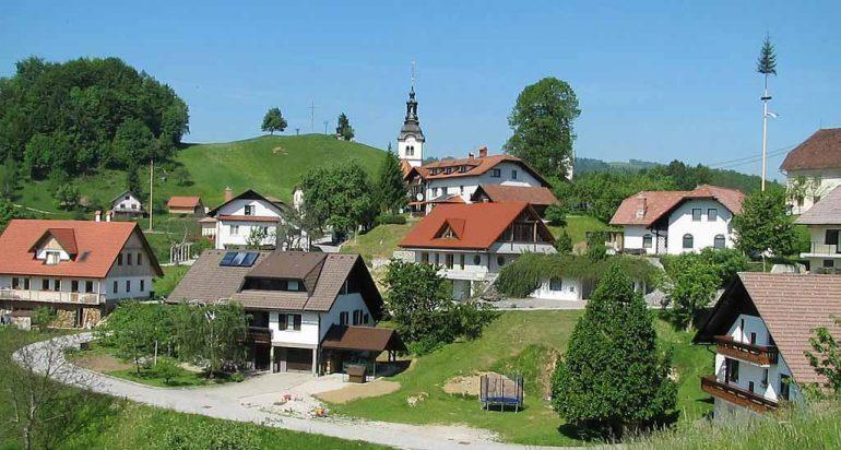 Un restaurante orgánico en la naturaleza en Eslovenia