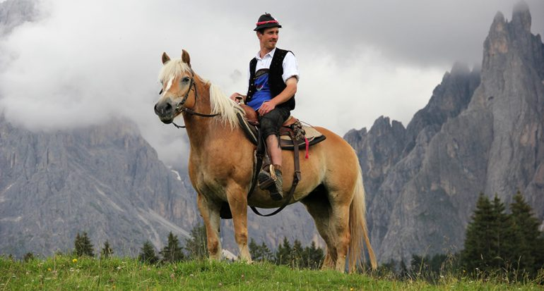 Vaqueros en la pradera alpina más grande de Europa