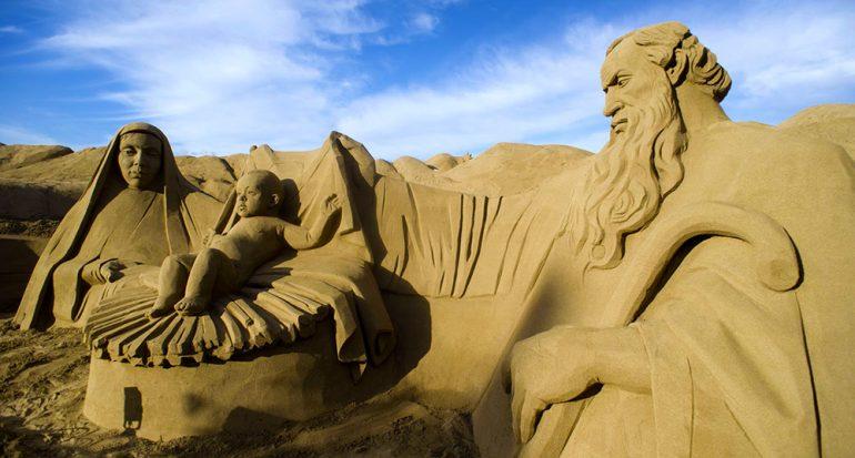 Visita el nacimiento de arena más grande del mundo
